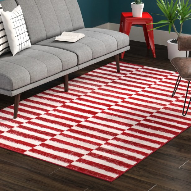 Mcgrail Red Area Rug Rug Size: Rectangle 7' x 10'