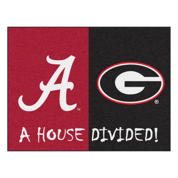 House Divided - Alabama / Georgia Doormat
