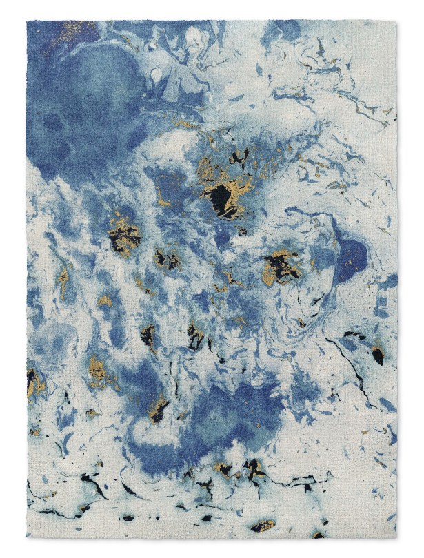 Overturf Marbled Blue/Gray Area Rug Rug Size: Rectangle 5' x 7'