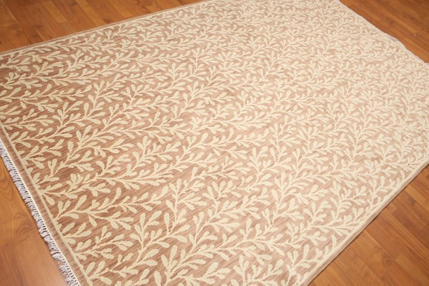 One-of-a-Kind Rabideau Hand-Knotted Wool Taupe Area Rug