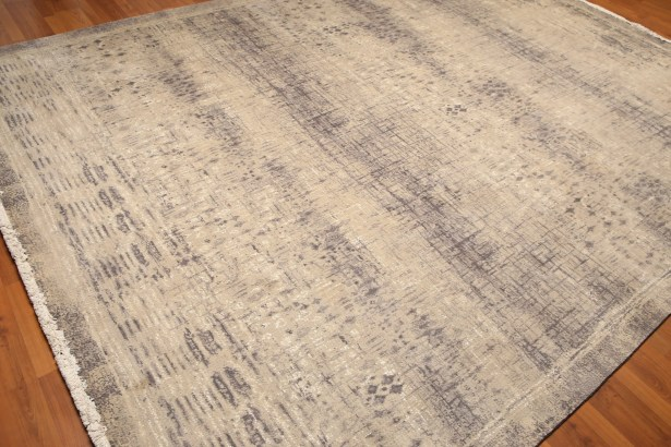 One-of-a-Kind Wynn Pile Hand-Knotted Beige Area Rug