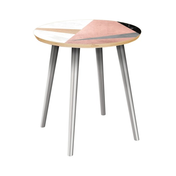 Mcgahey End Table Table Top Color: Natural, Table Base Color: Chrome