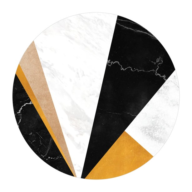 Mckinnis Coffee Table Table Base Color: Chrome, Table Top Color: Walnut/Black