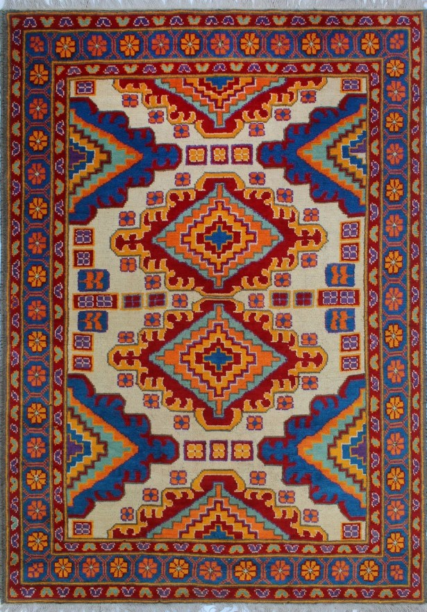 One-of-a-Kind Millender Luke Hand-Knotted Wool Red Are Rug