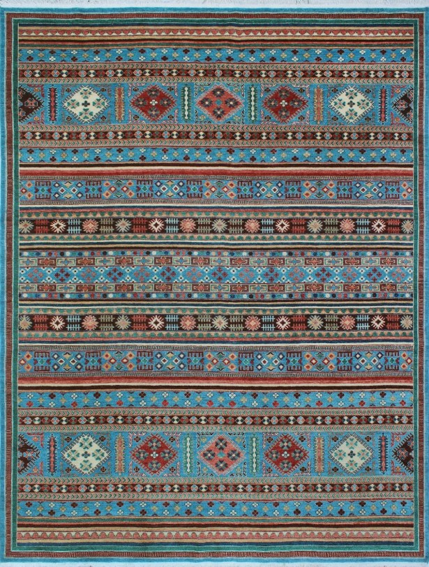 One-of-a-Kind Millard Abeni Hand-knotted Wool Blue Area Rug
