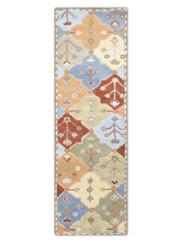 Encanto Oriental Hand-Tufted Wool Beige/Ivory Area Rug