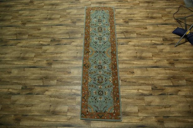 Toby Oushak Oriental Hand-Tufted Wool Brown/Blue Area Rug