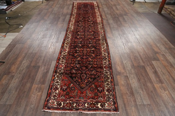 One-of-a-Kind Medallion Hamedan Persian Hand-Knotted 3'6