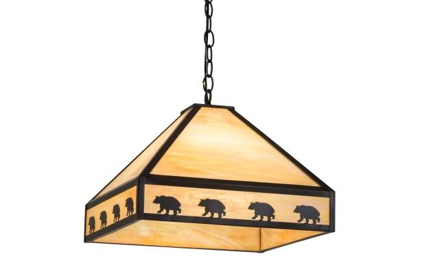 Zabel Bear on the Loose 3-Light Novelty Pendant