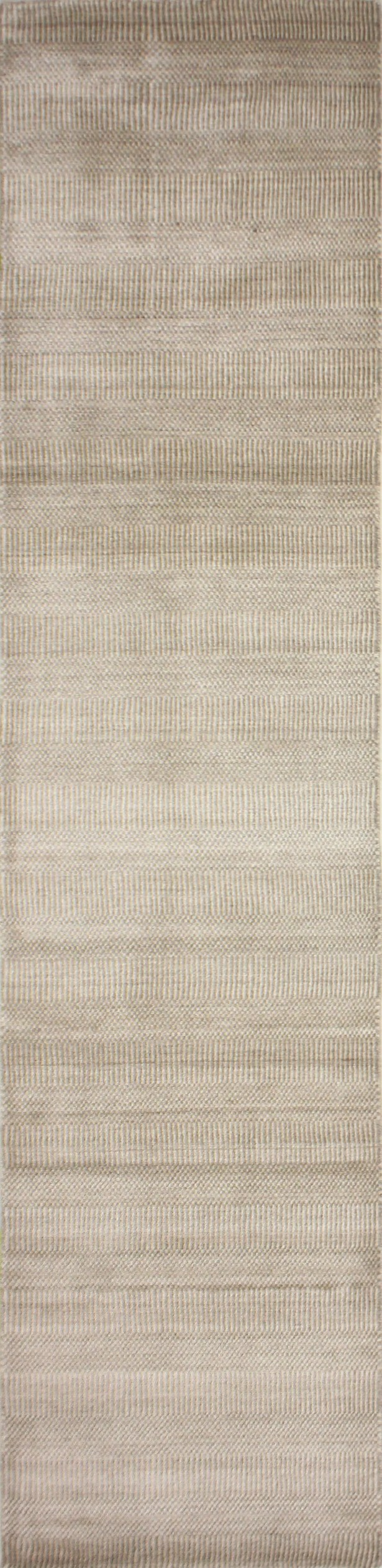 One-of-a-Kind Meidell Hand-Woven Wool Sand Area Rug Rug Size: Runner 2'6