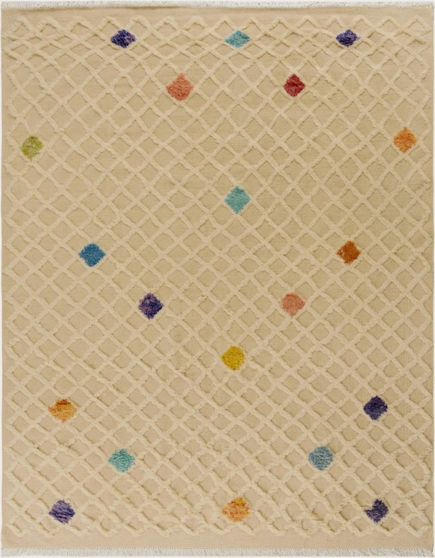 One-of-a-Kind Alastar Hand-Knotted Wool Beige Area Rug