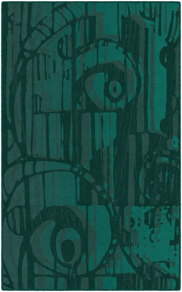 Pomonok Teal Area Rug Rug Size: Rectangle 5' x 8', Backing Material: Woven Polypropylene