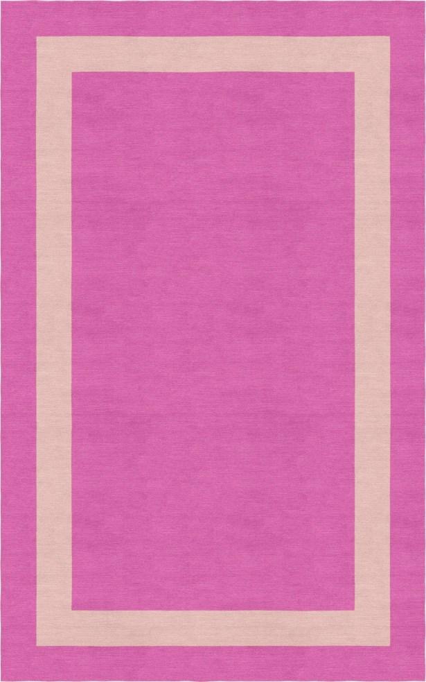Sahay Border Hand-Tufted Wool Pink/Peach Area Rug Rug Size: Rectangle 9' x 12'
