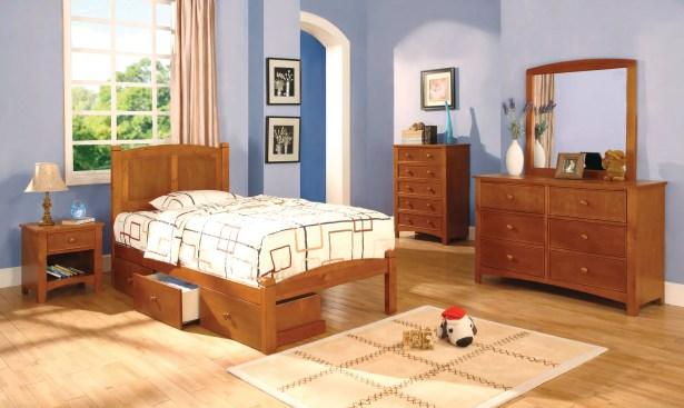 Prescott Panel Headboard Color: Oak, Size: Twin