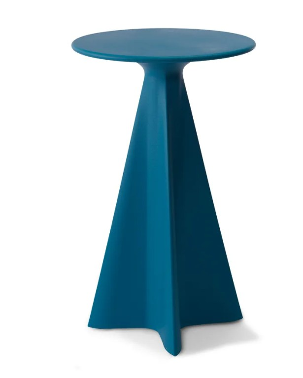 Glasser Bar Table Color: Cobalt