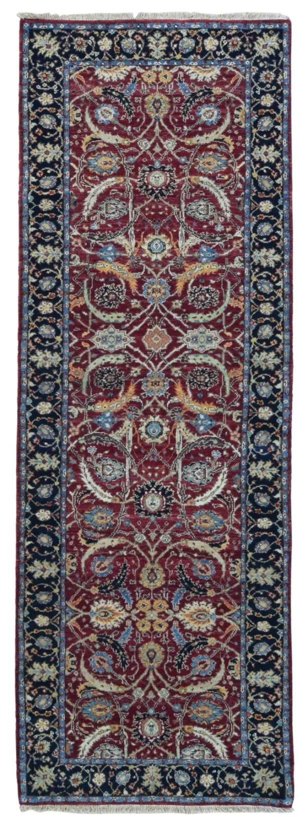 One-of-a-Kind Exmore Hand-Knotted Wool Red/Black Area Rug