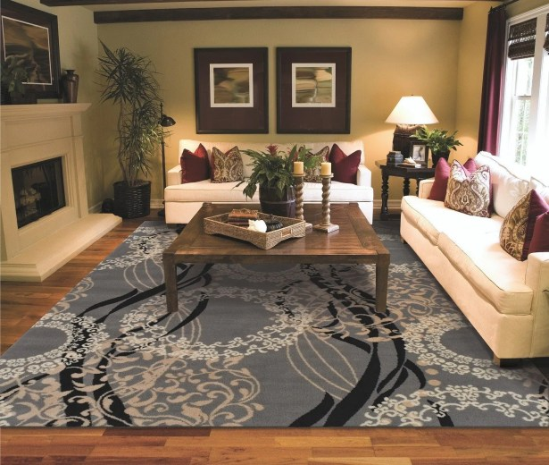 Kirkbride Wool Gray Indoor/Outdoor Area Rug Size: Rectangle 8' x 11'