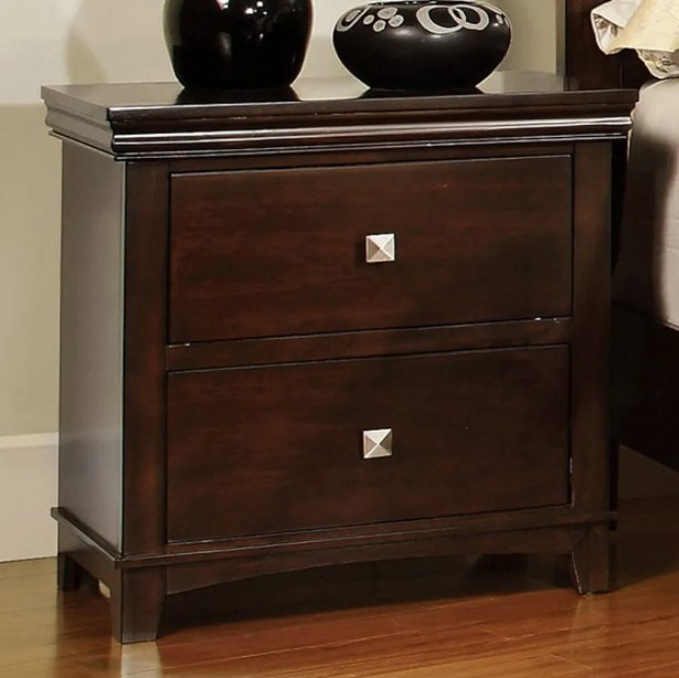 Jarred 2 Drawer Nightstand Color: Brown Cherry