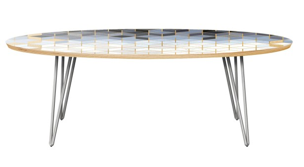Twigg Coffee Table Table Top Color: Natural, Table Base Color: Chrome