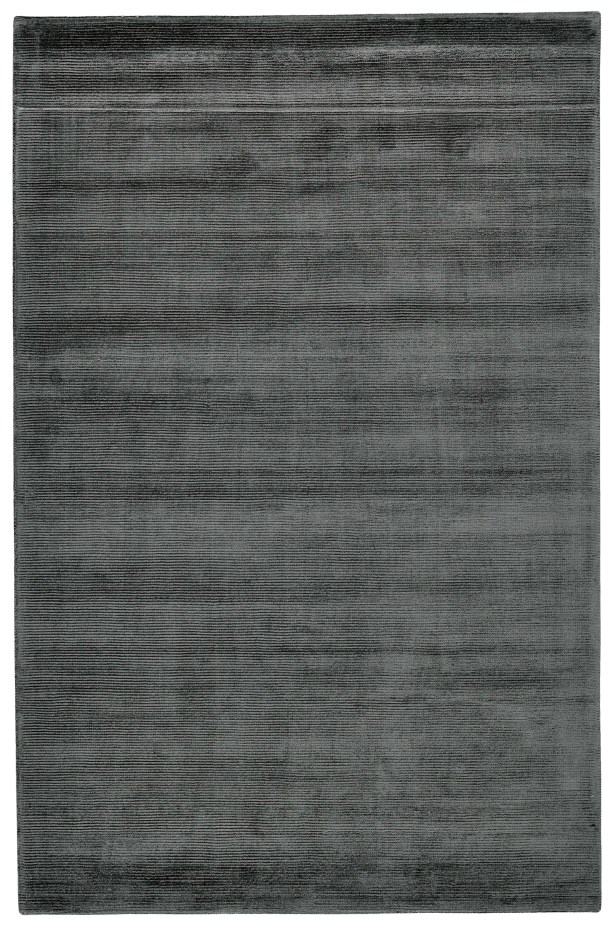 Riaria Hand-Woven Charcoal Area Rug Rug Size: Rectangle 9'6