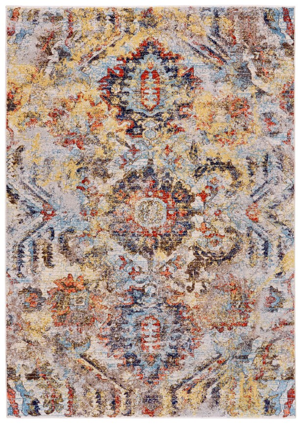 Greenwich Village Cream/Yellow Area Rug Rug Size: Rectangle 10'2