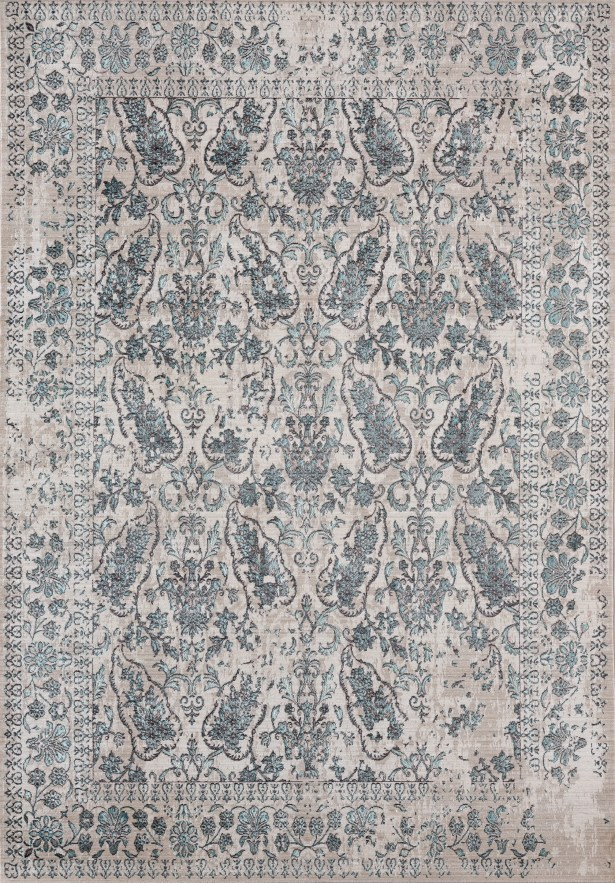 Rummond Blue/Beige Area Rug Rug Size: Rectangle 10'8