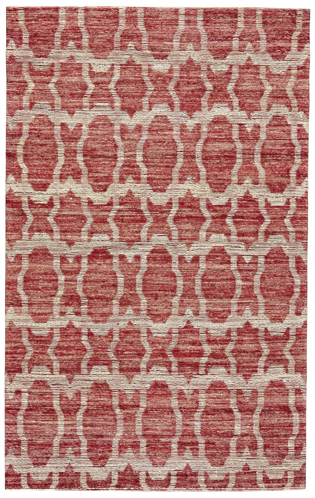 Reich Hand-Woven Red Area Rug Rug Size: Rectangle 5' x 8'