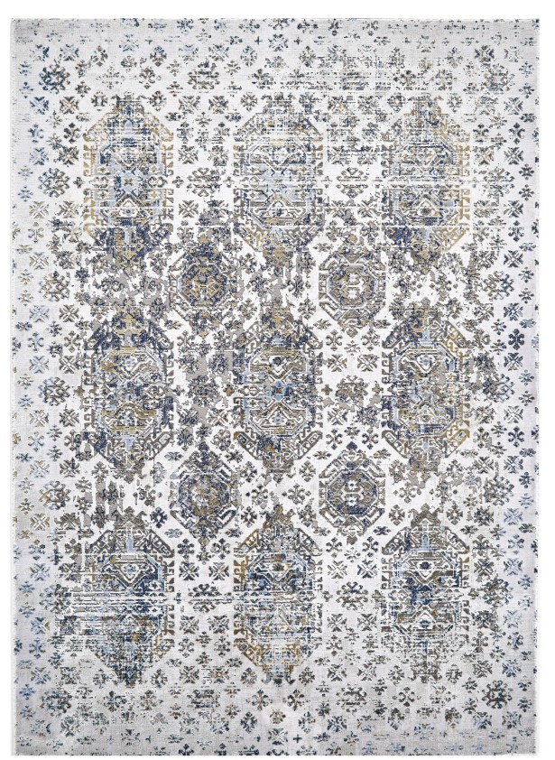 Ewers White/Gray Area Rug Rug Size: Rectangle 6'7