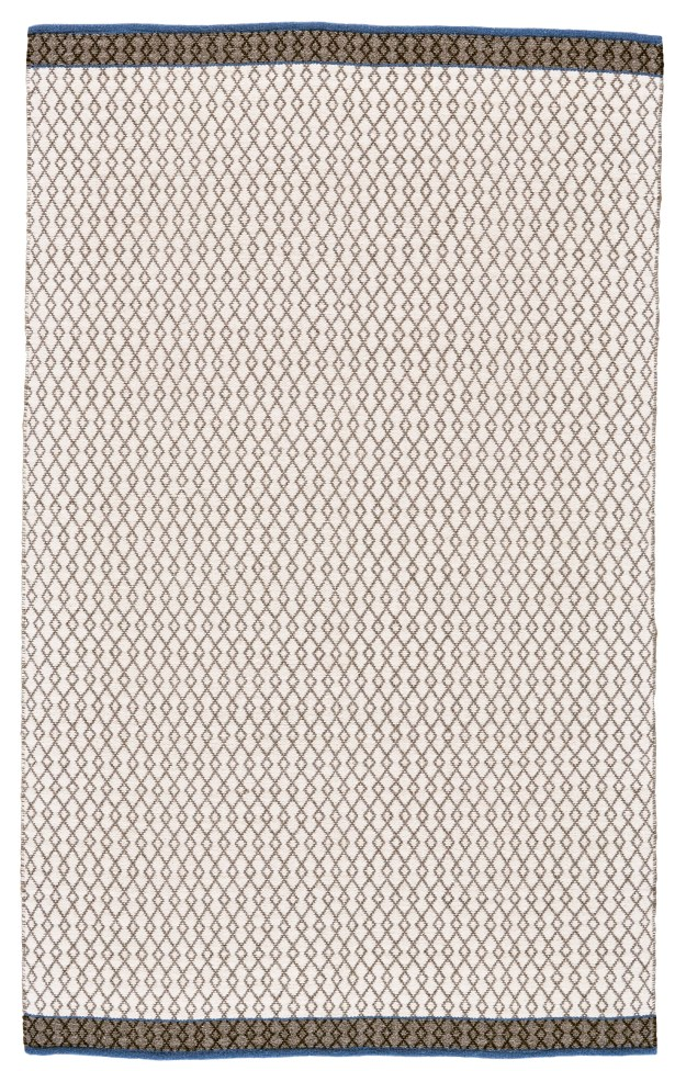 Pilsen Flat Woven Wool Gray/Navy Area Rug Rug Size: Rectangle 8' x 10'