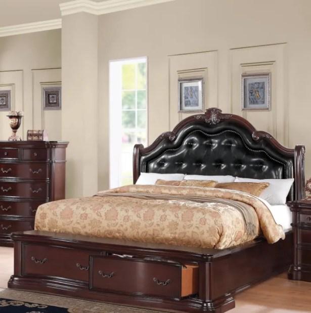 Oralie Queen Upholstered Storage Platform Bed