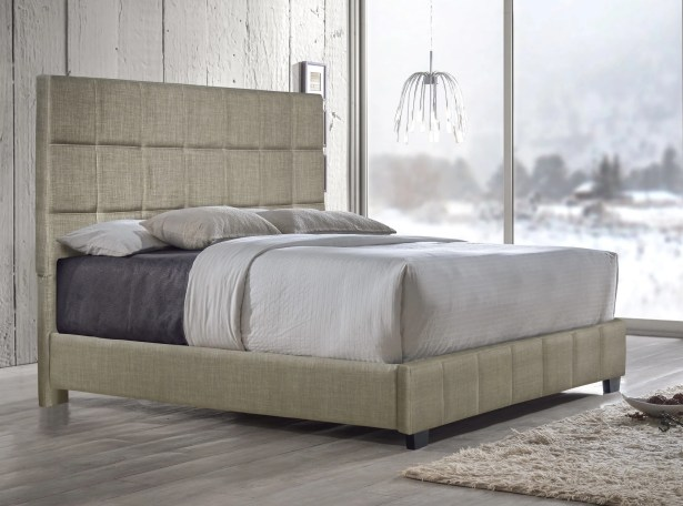 Pohlman Upholstered Panel Bed Size: Queen, Color: Sand