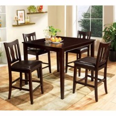 Dining Table Sets Bischof Severe 5 Piece Counter Height Solid Wood Dining Set