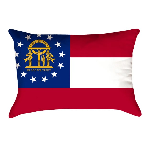 Centers Georgia Flag Lumbar Pillow Material/Product Type: Cotton Twill Double Sided Print/Pillow Cover