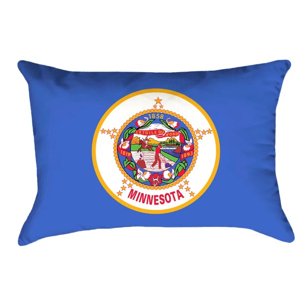Centers Minnesota Flag Lumbar Pillow Material/Product Type: Poly Twill Double Sided Print/Lumbar Pillow
