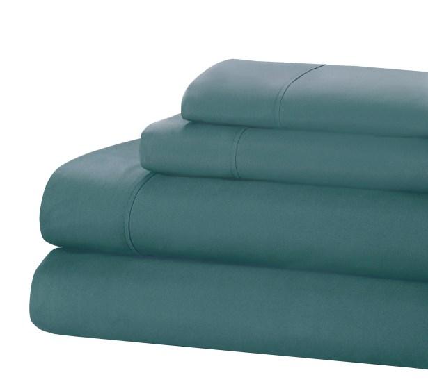 400 Thread Count 100% Cotton Sheet Set Size: King, Color: Blue