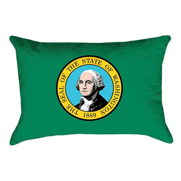 Cephas Washington Flag Pillow Product Type: Pillow Cover, Fabric: Poly Twill
