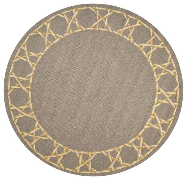 Stromberg Hand-Woven Gray Indoor/Outdoor Area Rug Rug Size: Round 7'6