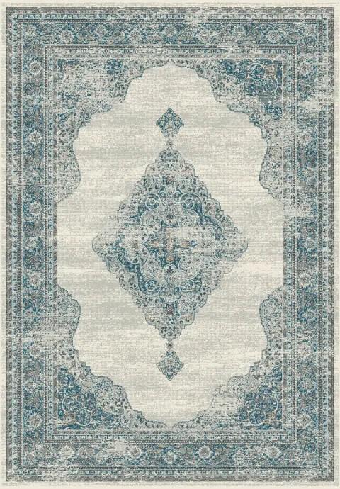 Deadra Beige/Blue Area Rug Rug Size: Rectangle 7'10