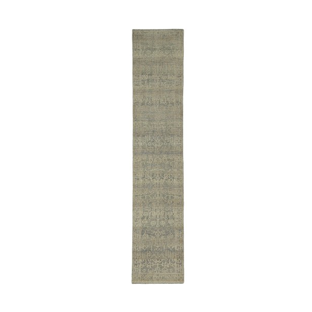 Romeo Hand-Knotted Wool Sand Area Rug Rug Size: Runner 2'6