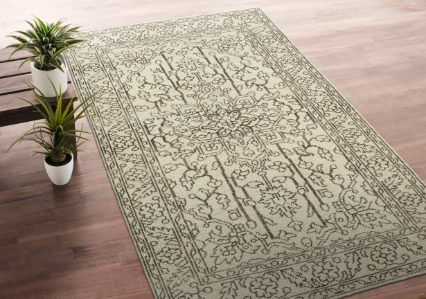 Romeo Hand-Knotted Wool Beige Area Rug Rug Size: Rectangle 8' x 10'