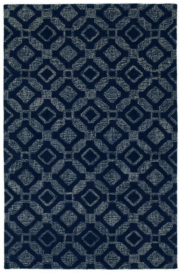 Funderburg Hand-Tufted Wool Navy Area Rug Rug Size: Rectangle 5' x 7'9
