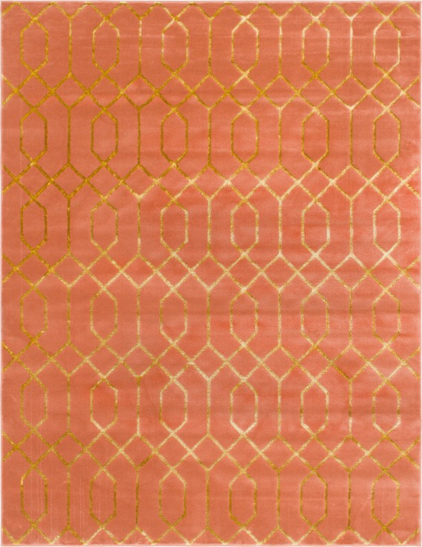 Glam Coral Area Rug Rug Size: Rectangle 8' x 10'