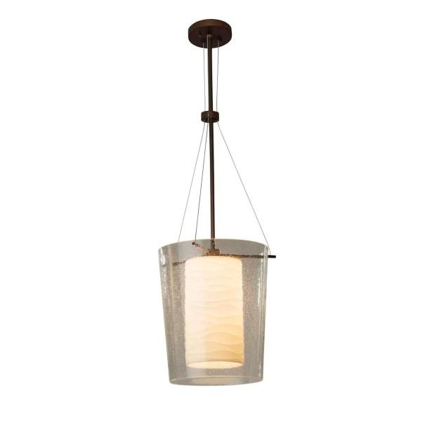 Conovan 1-Light Drum Pendant Finish: Brushed Nickel, Bulb Type: Dedicated LED