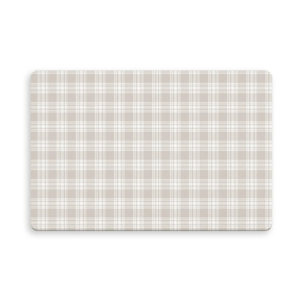 Wooten Plaid Doormat Color: Light Tan, Mat Size: Rectangle 2'6