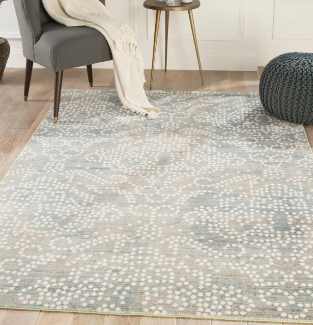 Lilley Damask Gray/White Area Rug Rug Size: Rectangle 9' x 12'