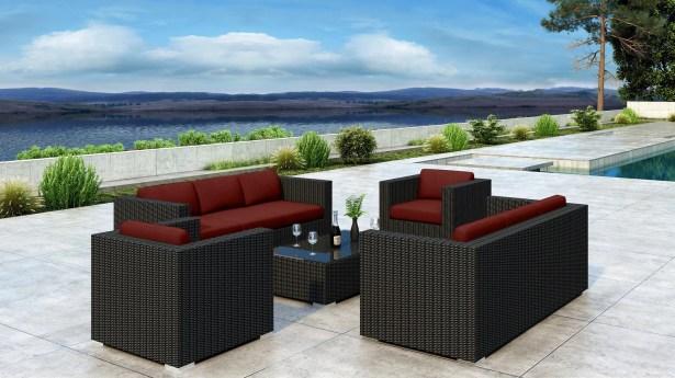 Glendale 5 Piece Sofa Set with Sunbrella Cushion Cushion Color: Canvas Henna