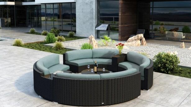 Glendale 7 Piece Sectional Set with Sunbrella Cushion Cushion Color: Canvas Spa
