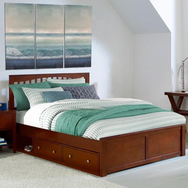 Granville Storage Platform Bed Color: Cherry, Size: King