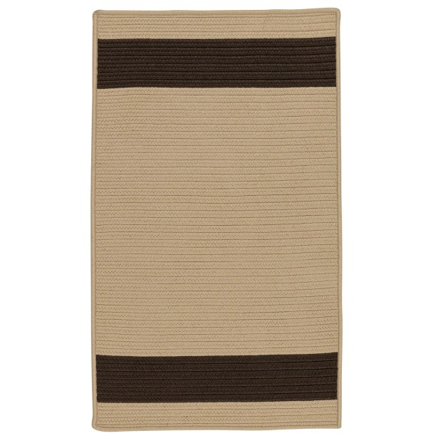 Sumrall Hand-Braided Brown/Black Indoor/Outdoor Area Rug Rug Size: Rectangle 8' x 11'