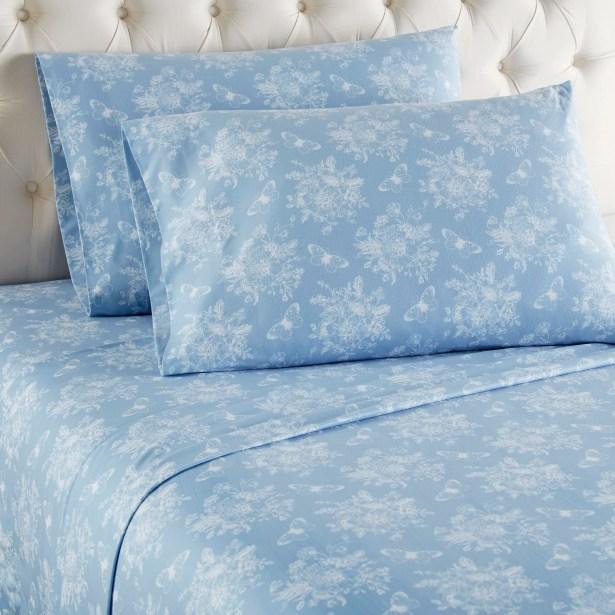 Yokota Toile Sheet Set Color: Blue, Size: Calfornia King